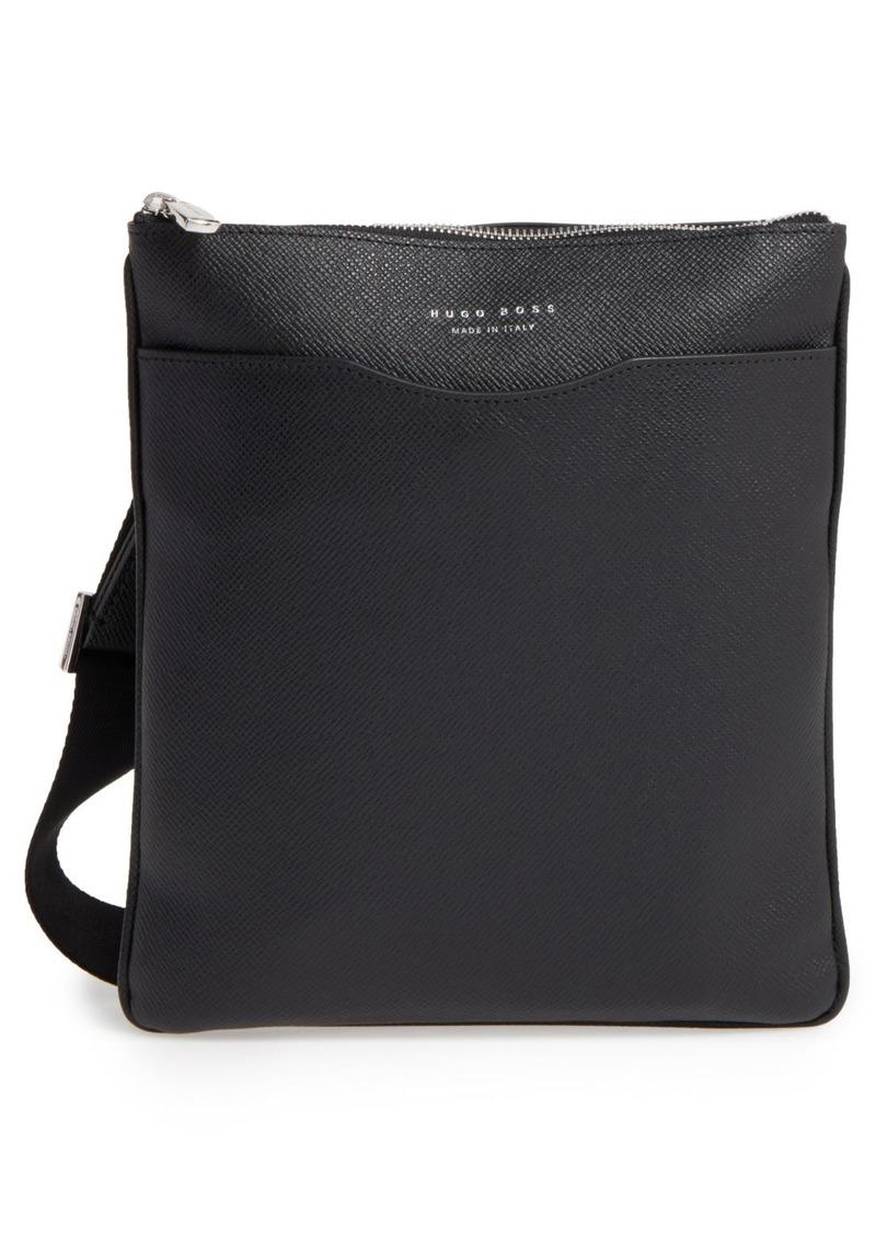 Hugo Boss BOSS 'Signature' Leather Crossbody Bag