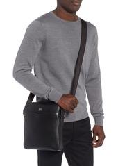 Hugo Boss BOSS Signature Leather Reporter Bag