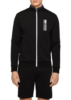 Hugo Boss BOSS Skaz 1 Logo Print Regular Fit Full Zip Sweatshirt