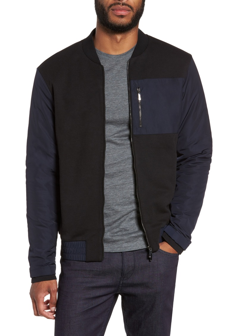 c3253cd4ad5 Hugo Boss BOSS Skiles 06 Mixed Media Bomber Jacket Now  176.98
