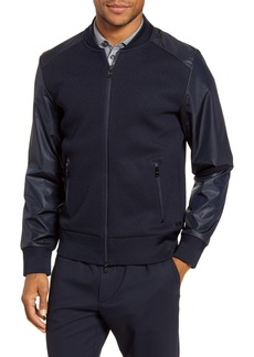 Hugo Boss BOSS Skiles Knit & Woven Bomber Jacket