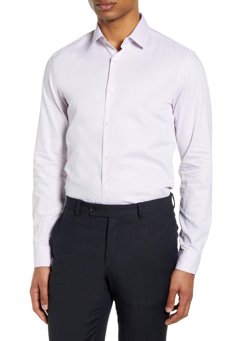 Hugo Boss BOSS Slim Fit Diamond Dress Shirt