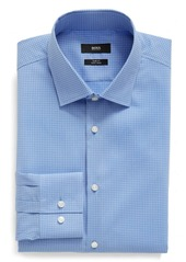 Hugo Boss BOSS Slim Fit Easy Iron Microcheck Dress Shirt
