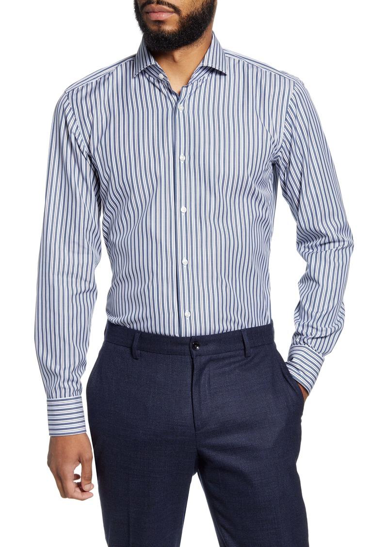Hugo Boss BOSS Slim Fit Easy Iron Stripe Dress Shirt