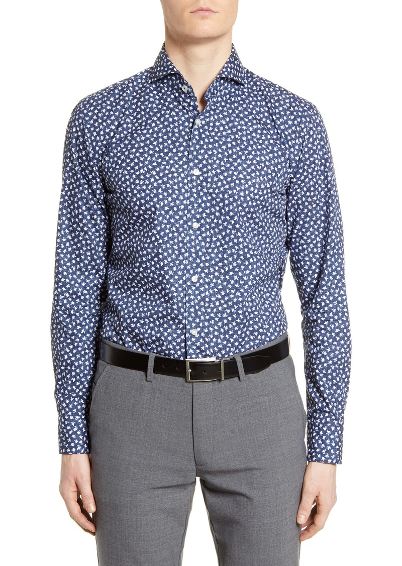 Hugo Boss BOSS Slim Fit Soft Line Floral Dress Shirt