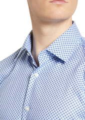 Hugo Boss BOSS Slim Fit Geometric Travel Dress Shirt