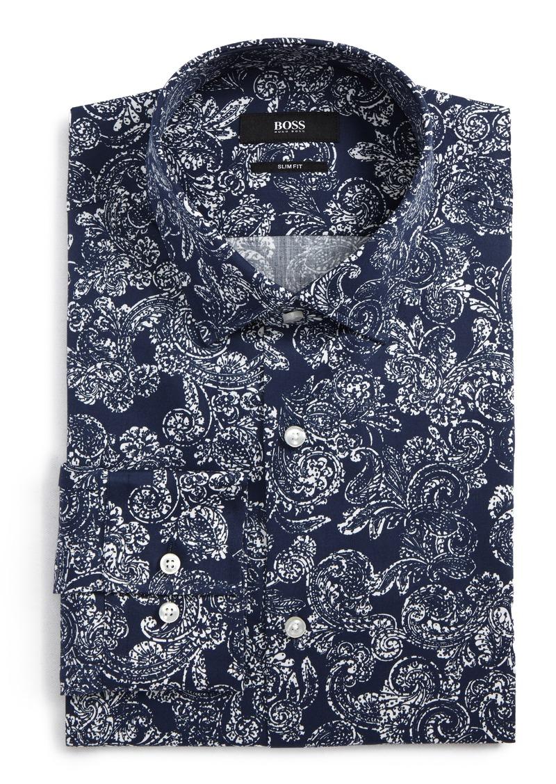 2cd9e132f Hugo Boss BOSS Slim Fit Paisley Dress Shirt | Dress Shirts