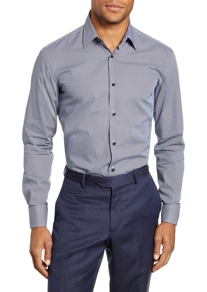 Hugo Boss BOSS Slim Fit Print Dress Shirt