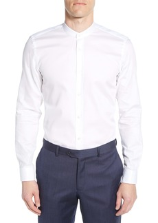 Hugo Boss BOSS Slim Fit Solid Band Collar Dress Shirt