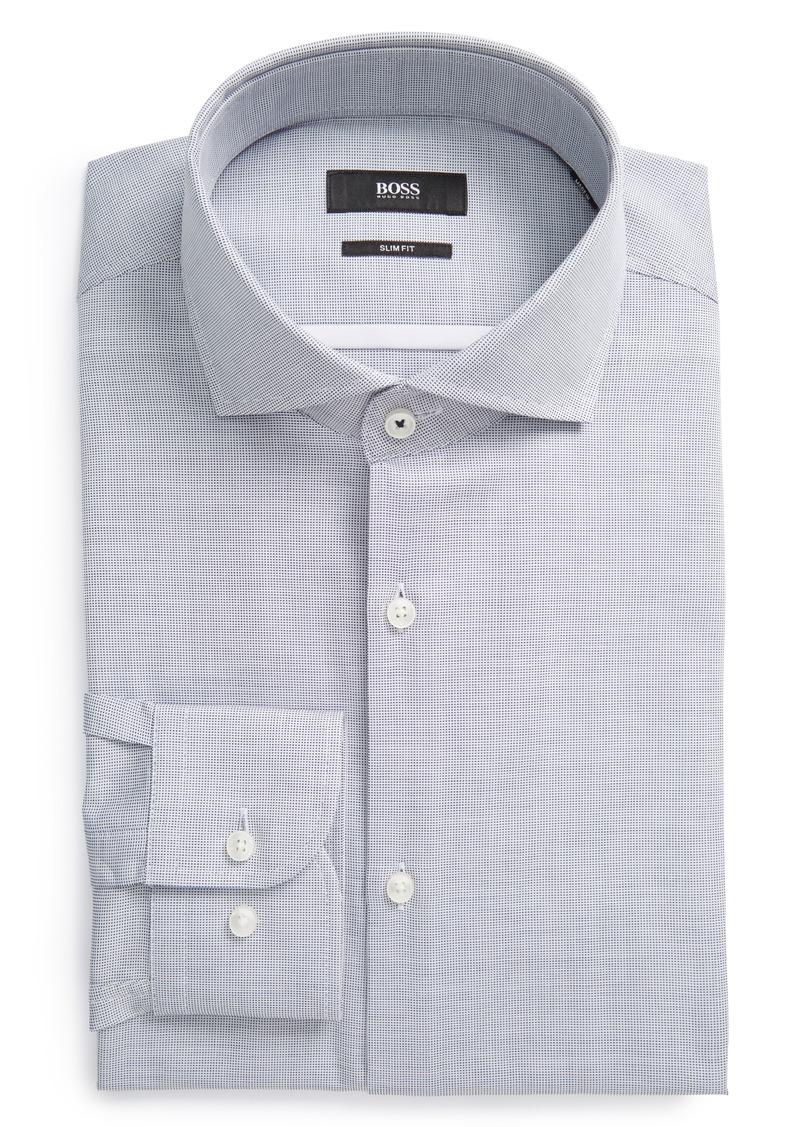 Hugo boss boss slim fit solid dress shirt dress shirts for Hugo boss dress shirts