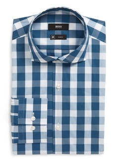Hugo Boss BOSS Slim Fit Stretch Check Dress Shirt