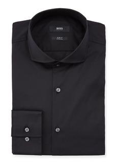 Hugo Boss Slim Fit Stretch Solid Cotton Dress Shirt