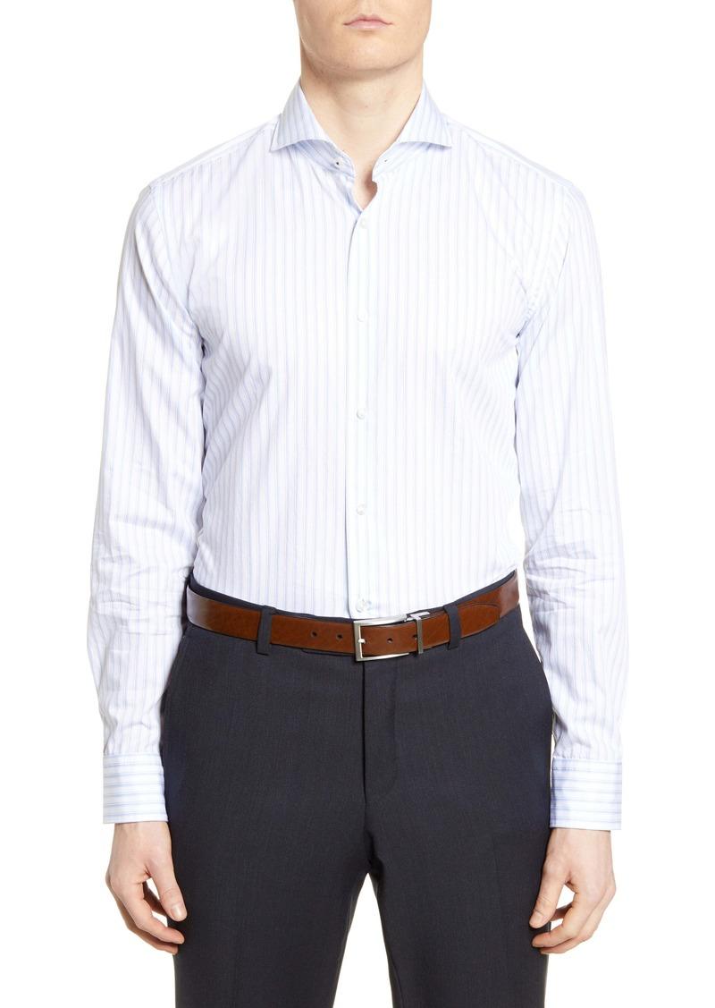 Hugo Boss BOSS Slim Fit Soft Line Stripe Dress Shirt