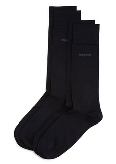 Hugo Boss BOSS Solid Dress Socks - Pack of 2