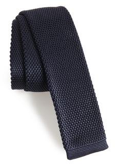 Hugo Boss BOSS Solid Knit Silk Skinny Tie