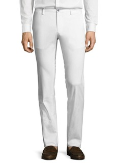 Hugo Boss Solid Stretch-Cotton Pants