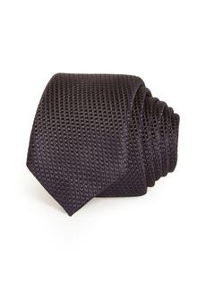 Hugo Boss BOSS Solid Woven Silk Skinny Tie