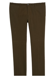 Hugo Boss BOSS Stanino Flat Front Stretch Cotton Solid Trousers