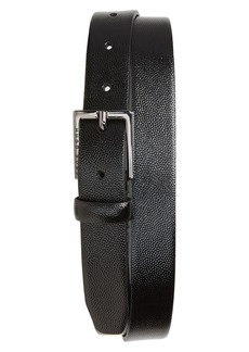 Hugo Boss BOSS Stingray Embossed Patent Calfskin Leather Belt