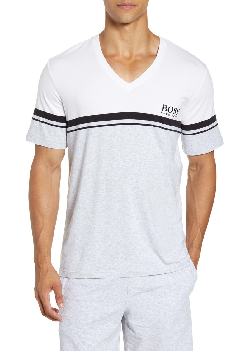 Hugo Boss BOSS Stripe V-Neck T-Shirt