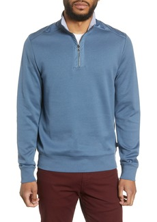 Hugo Boss BOSS Sydney 56 Regular Fit Quarter Zip Pullover