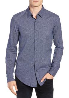Hugo Boss BOSS T-Riccardo Slim Fit Floral Print Sport Shirt