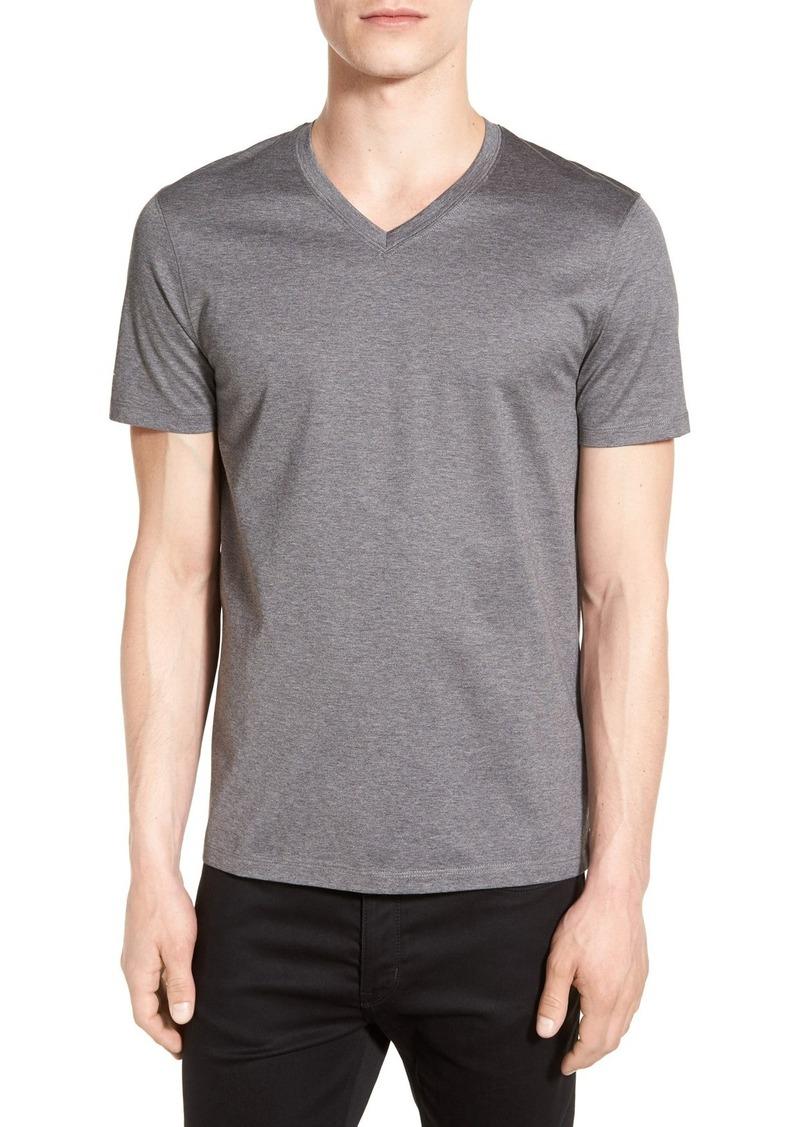5fae97932 Hugo Boss BOSS 'Teal' Slim Fit Mercerized Cotton V-Neck T-Shirt   T ...