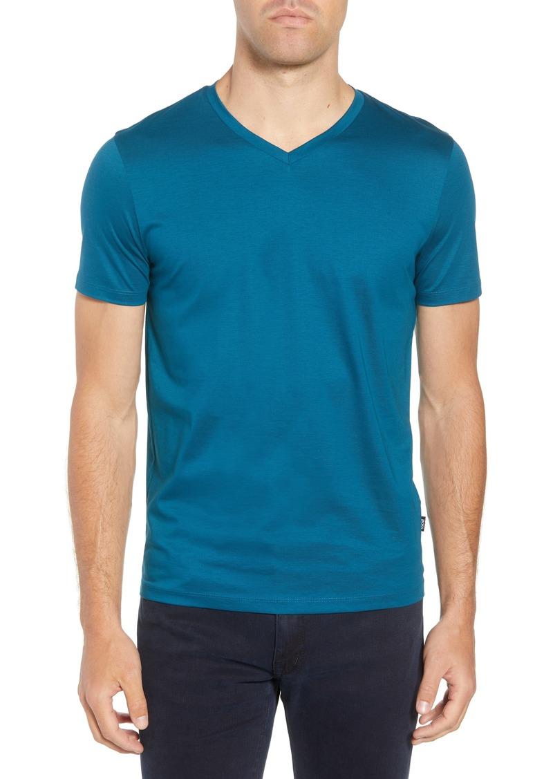 8ffcd5c9 Hugo Boss BOSS Teal Slim Fit V-Neck T-Shirt | T Shirts