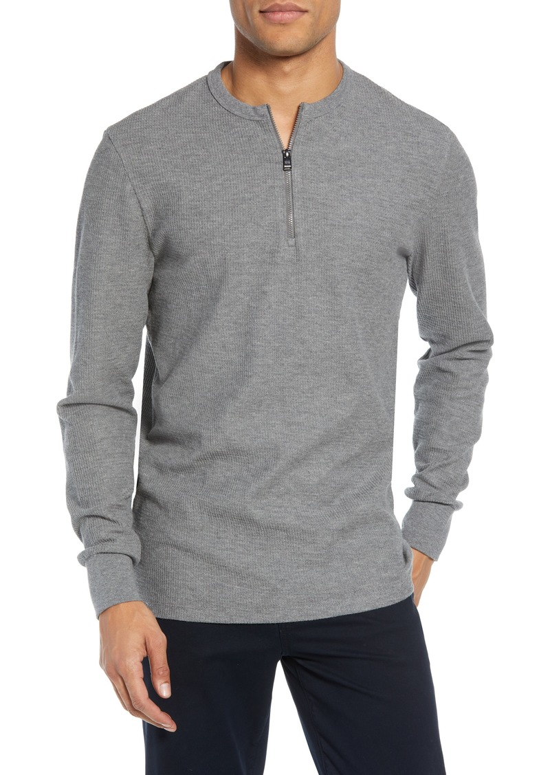 Hugo Boss BOSS Textor Regular Fit Quarter Zip Thermal T-Shirt
