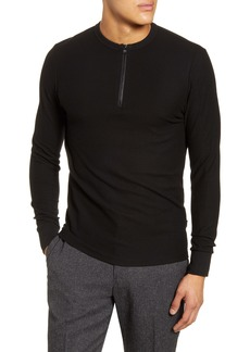 Hugo Boss BOSS Textor Regular Fit Quarter Zip Rib T-Shirt
