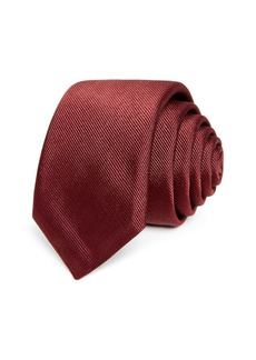 Hugo Boss BOSS Textured Diagonal Solid Silk Skinny Tie