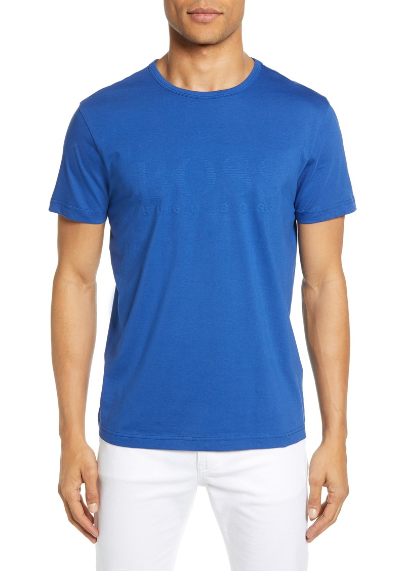 Hugo Boss BOSS Regular Fit Textured Logo T-Shirt