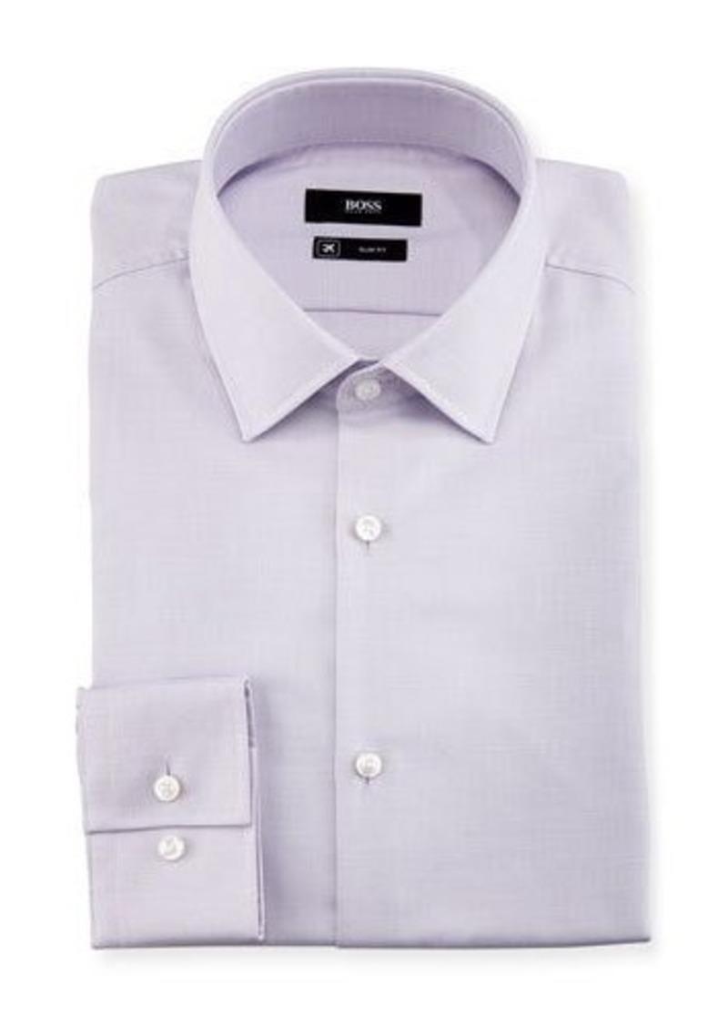 Hugo boss boss textured solid slim fit travel dress shirt for Hugo boss slim fit dress shirt