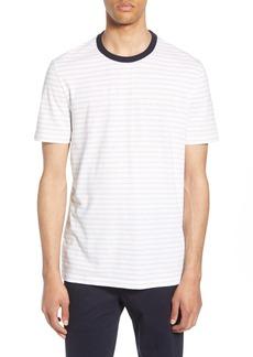 Hugo Boss BOSS Tiburt Regular Fit Stripe Linen Blend T-Shirt