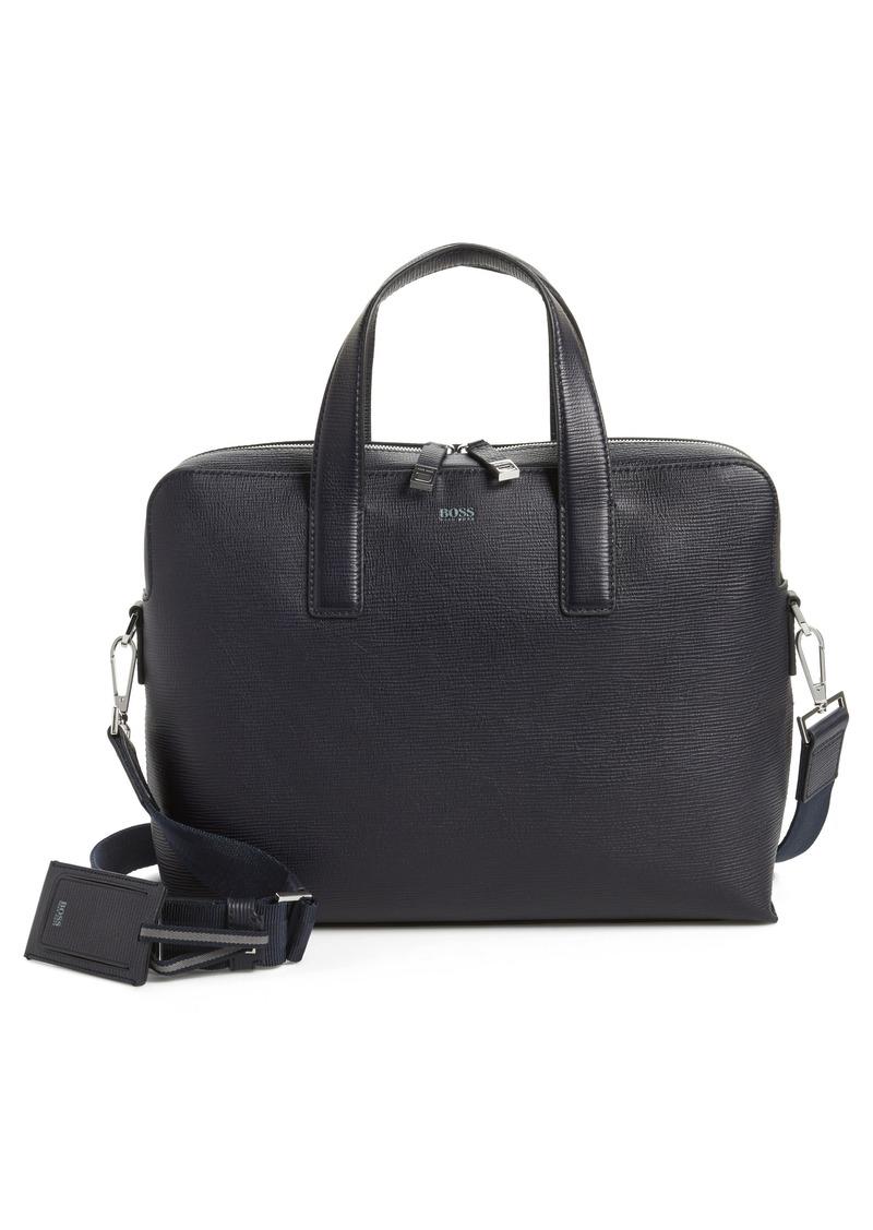 5387b7b55 Hugo Boss BOSS Timeless Leather Document Briefcase | Bags