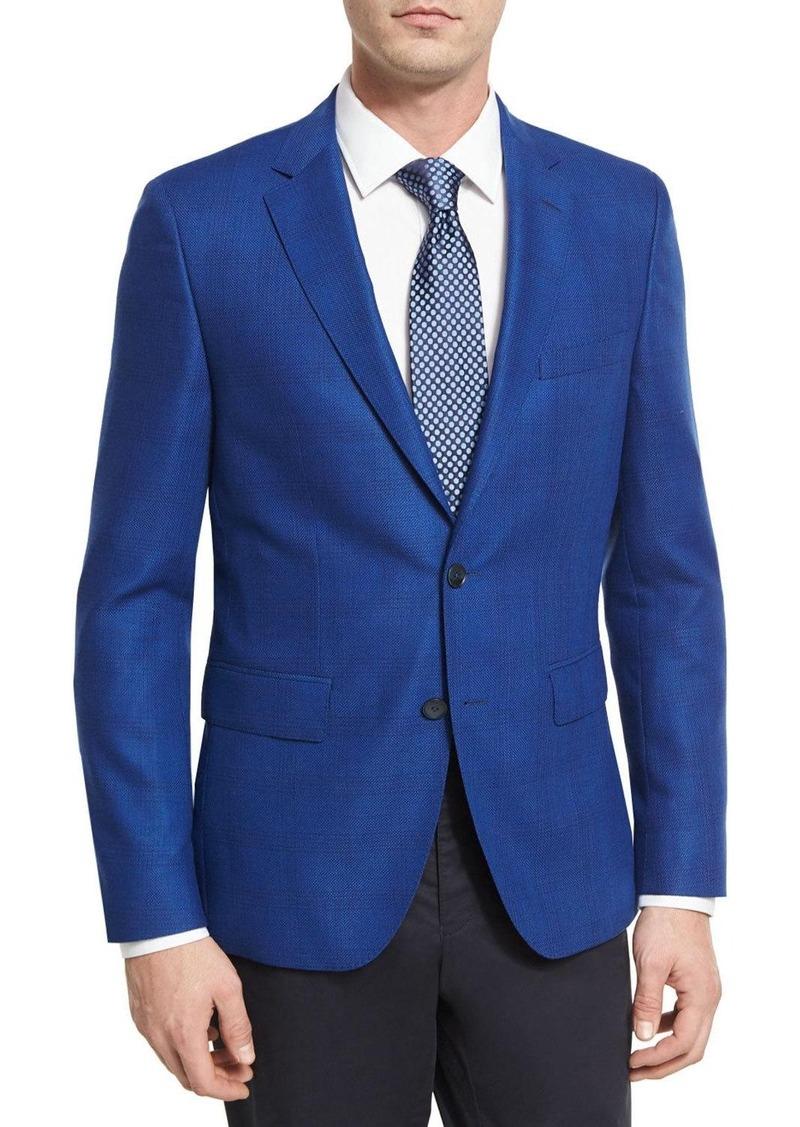 b737cadb13 BOSS Tonal Glen Plaid Wool Sport Coat