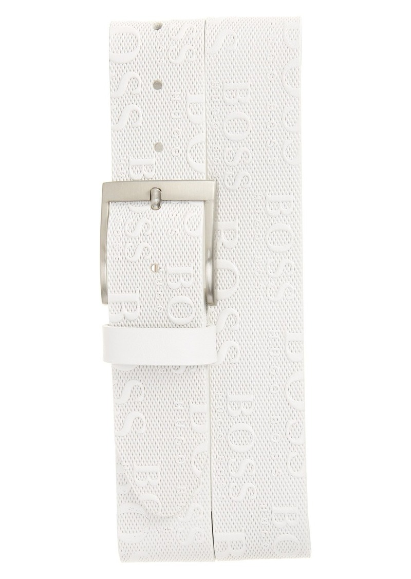 Hugo Boss BOSS 'Torialo' Embossed Leather Belt