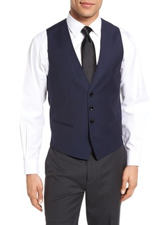 Hugo Boss BOSS Trim Fit Solid Wool Vest