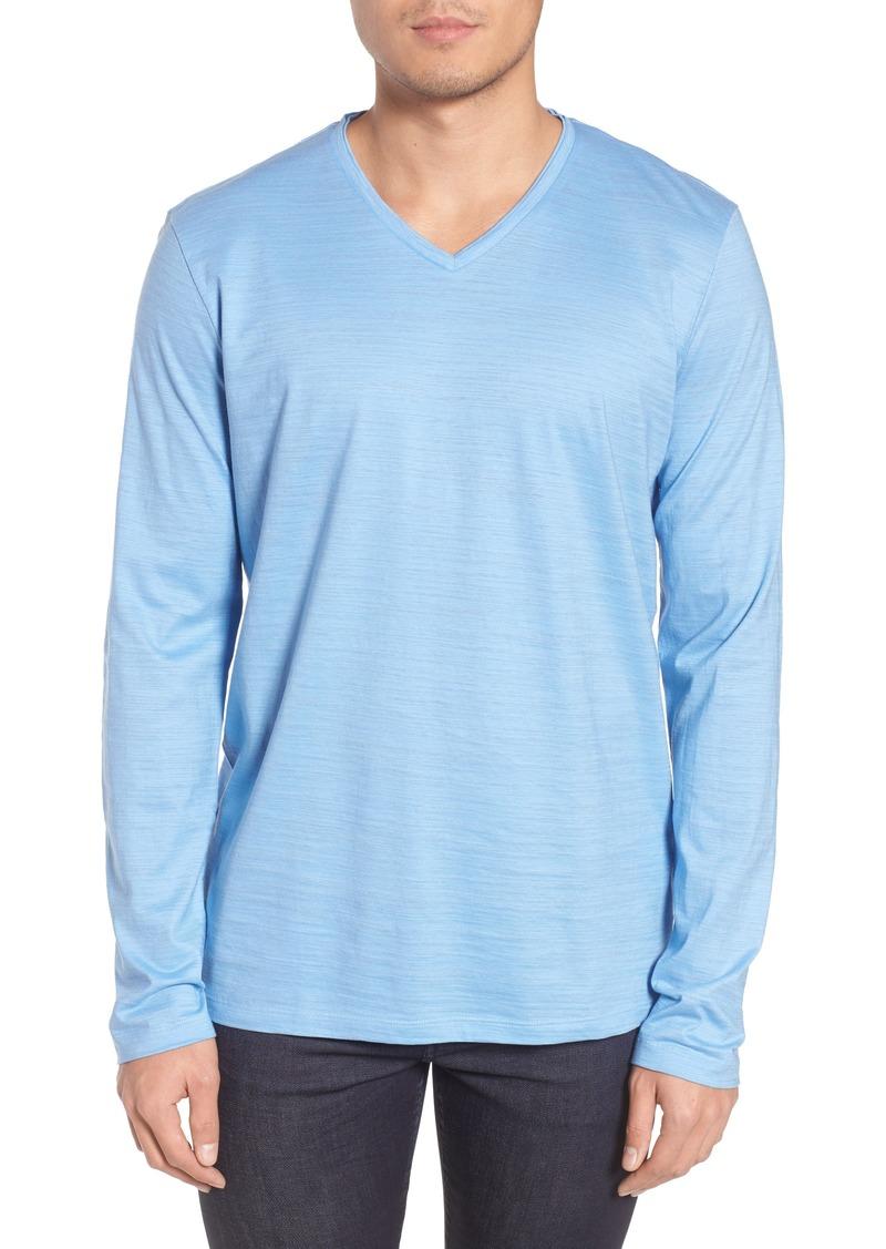 1051efb13 Hugo Boss BOSS Tyson Long Sleeve V-Neck T-Shirt | T Shirts