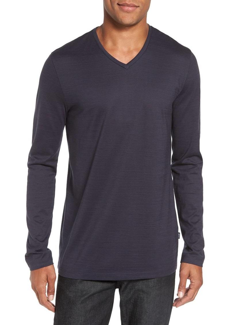 0c5a80adf Hugo Boss BOSS 'Tyson' V-Neck Long Sleeve T-Shirt | T Shirts