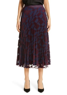 Hugo Boss BOSS Valace Abstract Plissé Midi Skirt