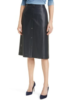 Hugo Boss BOSS Vefy Perforated Faux Leather Skirt