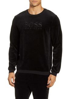 Hugo Boss BOSS Velour Crewneck Sweatshirt