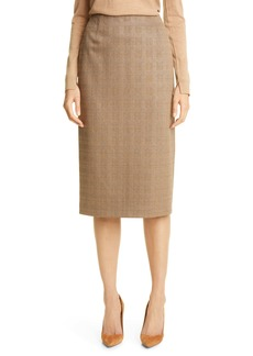 Hugo Boss BOSS Vericana Plaid Pencil Skirt