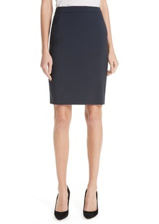 Hugo Boss BOSS Vilea Tropical Stretch Wool Pencil Skirt (Regular & Petite)