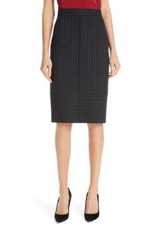 Hugo Boss BOSS Vunka Mix Pinstripe Suit Skirt