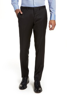 Hugo Boss BOSS Wave CYL Flat Front Solid Wool Trousers