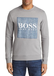 Hugo Boss BOSS Wedford Chambray Logo Crewneck Sweatshirt