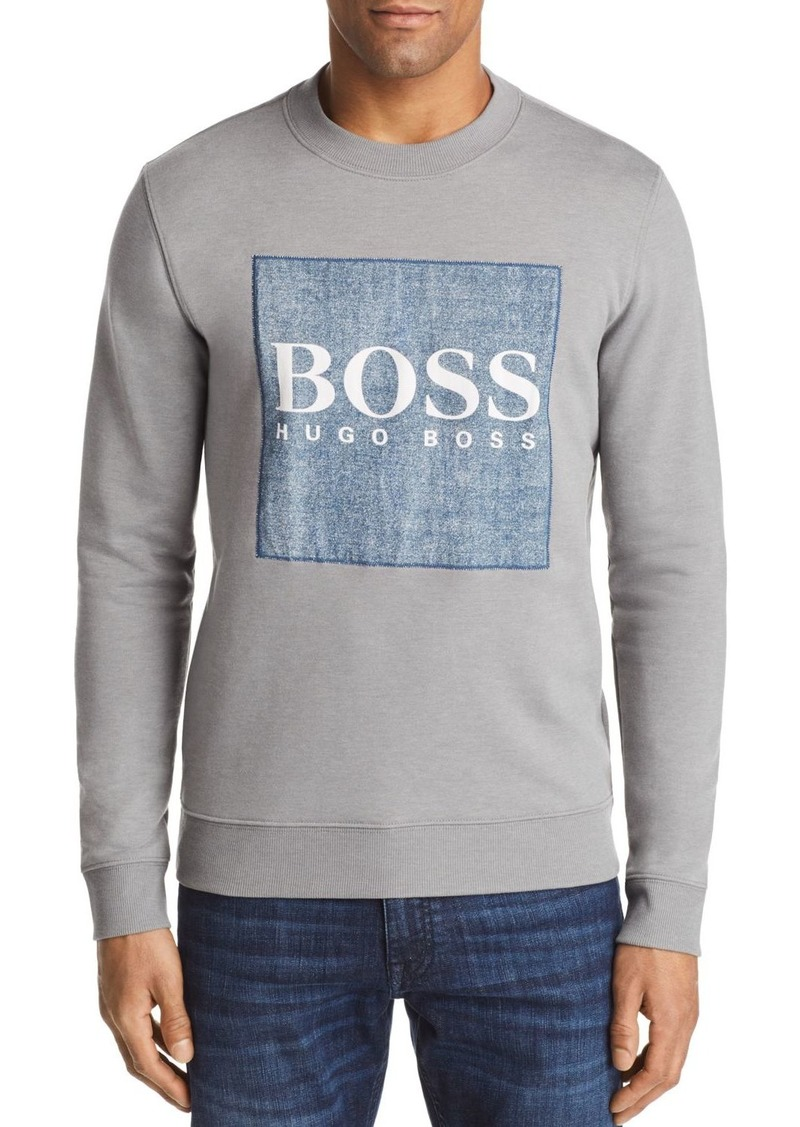 85293ef46 Hugo Boss BOSS Wedford Chambray Logo Crewneck Sweatshirt Now $71.10