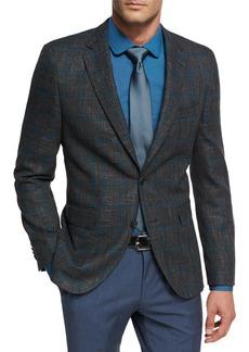 Hugo Boss Windowpane Jersey Wool Sport Coat
